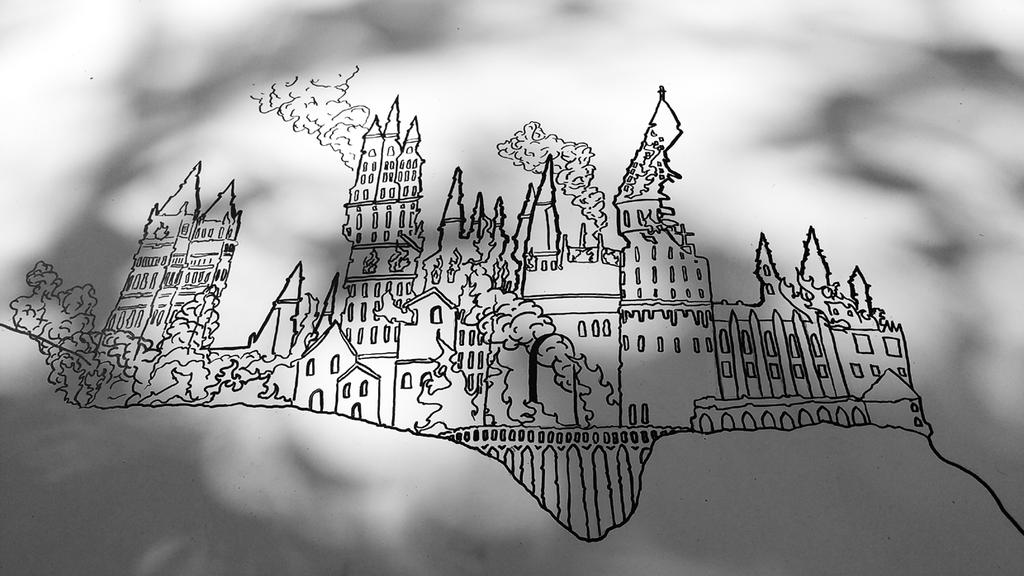 Hogwarts Castle on Fire by AllHailZ
