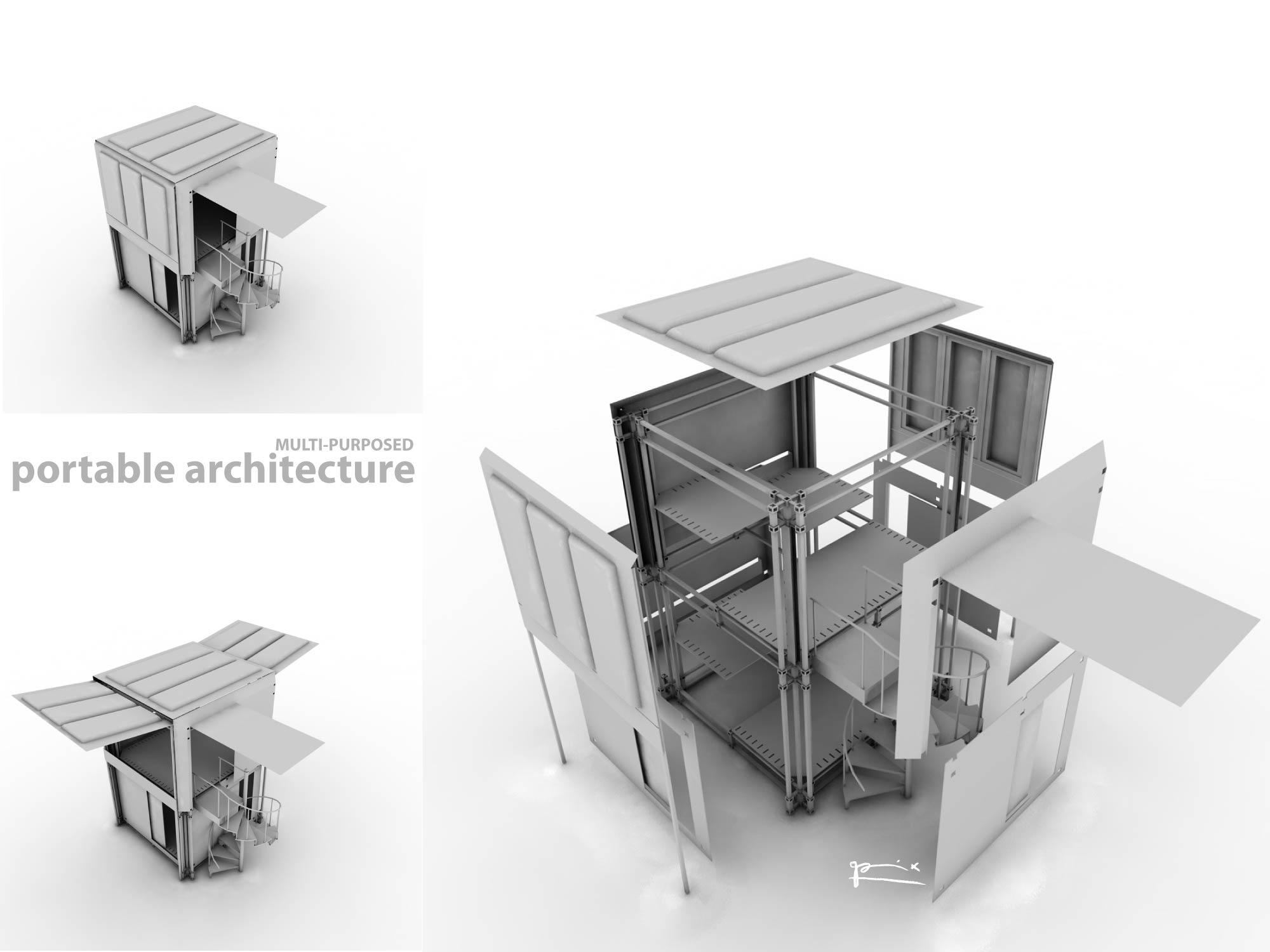 portable architecture by picopix on deviantart. Black Bedroom Furniture Sets. Home Design Ideas