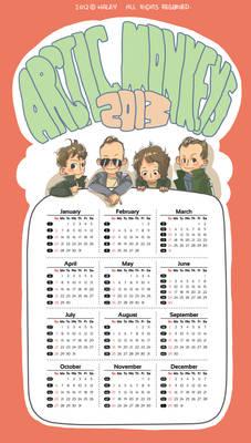 arctic monkeys calendar 2013