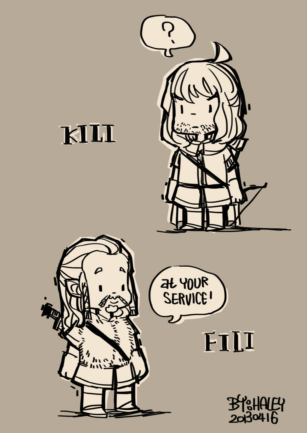 kili and fili :D by haleyhss