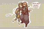 Merry, Pippin, and Boromir