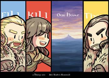 Fili, Kili, Thorin (ver.2) by haleyhss