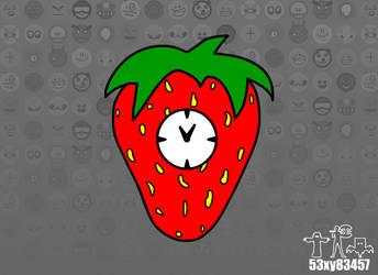 Strawberry Clock (BG) by 53xy83457
