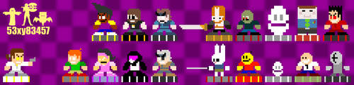 Mega Newgrounds Characters by 53xy83457