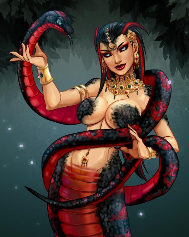 Lachessis the Snake Spirit by reirei