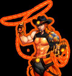 Cowboy Stripper Robot by reirei