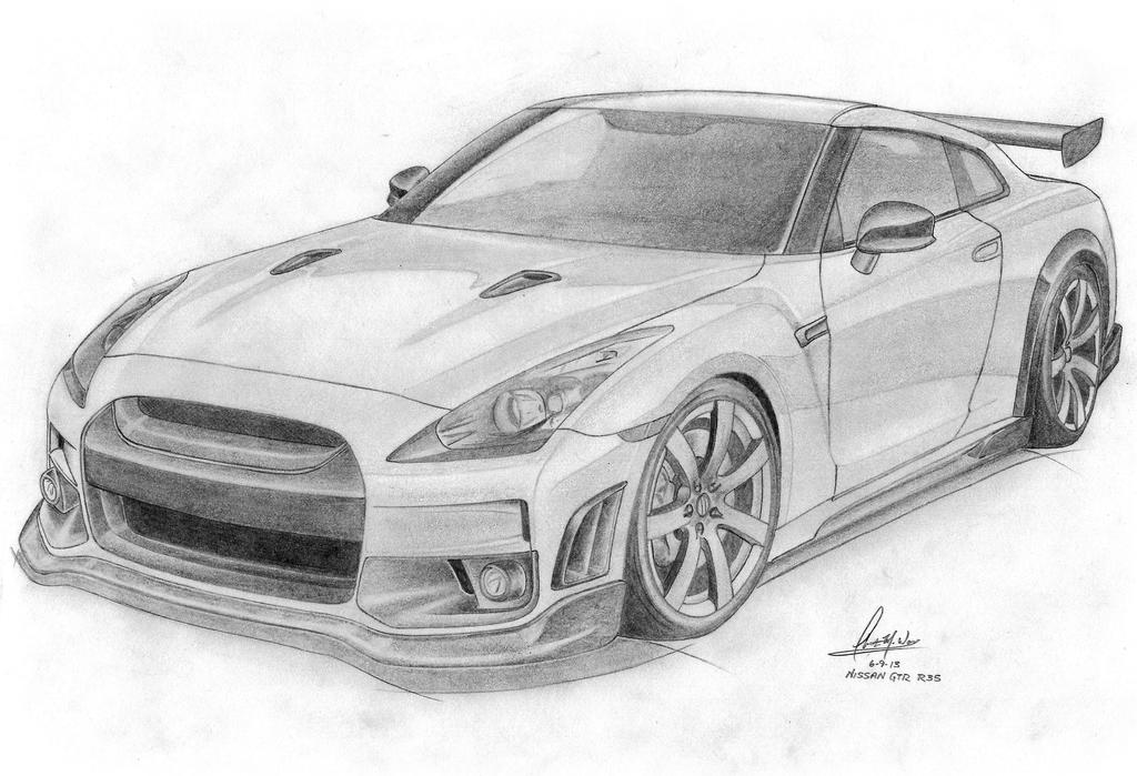 Easy To Draw Nissan Gtr New Car Update 2020