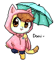 Daniela the Cat Pixel by CuteyTCat