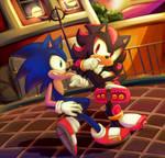 Sonic Vs Shadow [SpeedPaint]