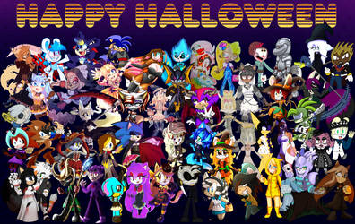 Halloween Collab Happy Halloween from Everyone! by CuteyTCat