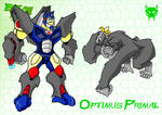 BW Animated Optimus Primal