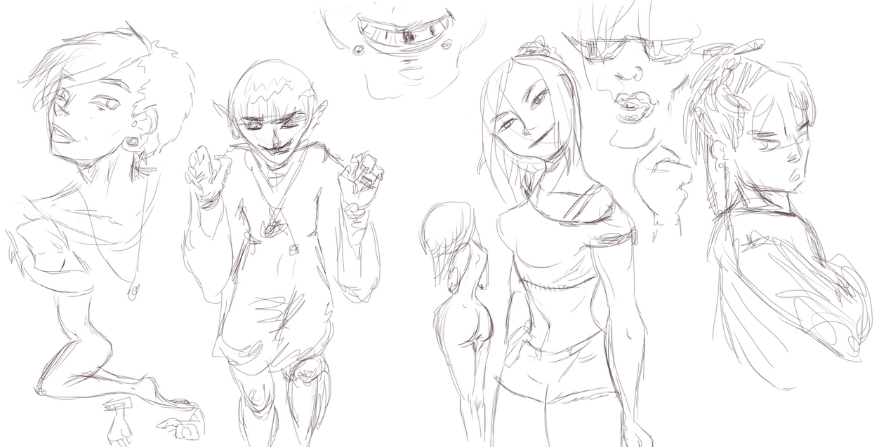 Sketch Dump of Sorts by HappyViper