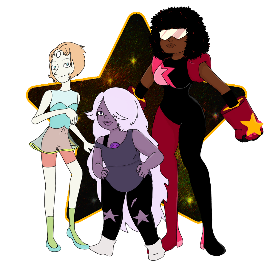 The crystal gems by HappyViper