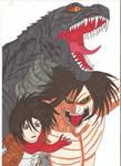 Attack on Titan Godzilla - WE FIGHT AS ONE