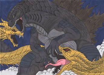 Godzilla KOTM - Only one shall be King. by Tyrannuss555