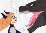 Godzilla Academia - Mount lady vs Godzilla part 2