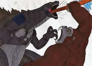 Godzilla vs Kong - Godzilla vs the axe