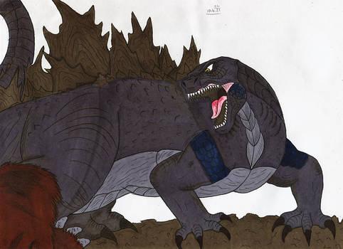 Godzilla vs Kong - Godzilla's rampage
