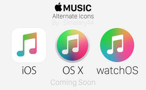 Apple Music - Alternate Icons (Coming Soon) by simalary44