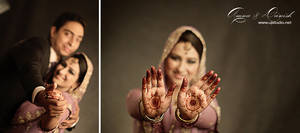 Pakistani Bride with Mehndi on her palms by UsmanJamshed