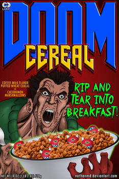 DOOM Cereal Box Cover