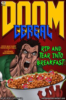 DOOM Cereal Box Cover (Alternate)
