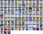 SMBZ Smithy Saga: Character Icons