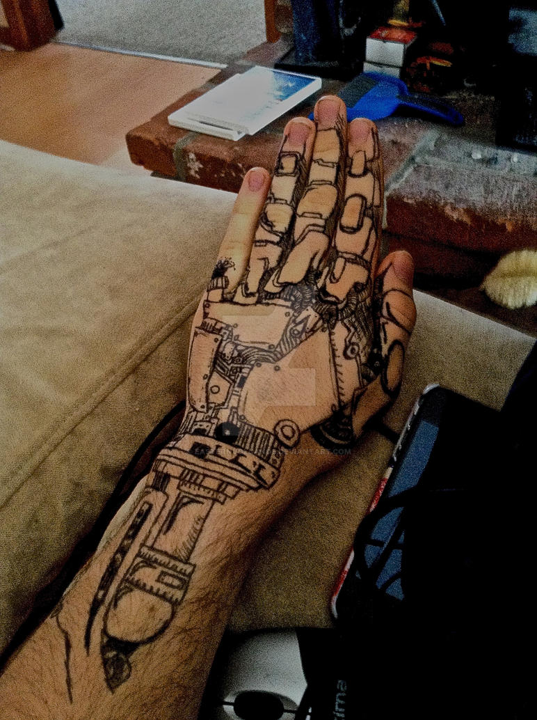 Robotic hand by EasternVolcanos on DeviantArt