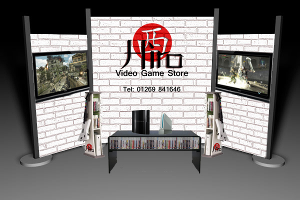 Exhibition Stand Game : Hiro video game store exhibition stand by official