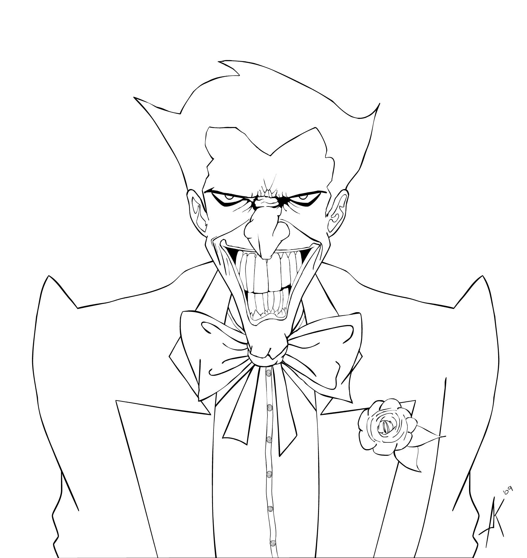 The Joker Line Art : Joker lineart by heartlessomen on deviantart