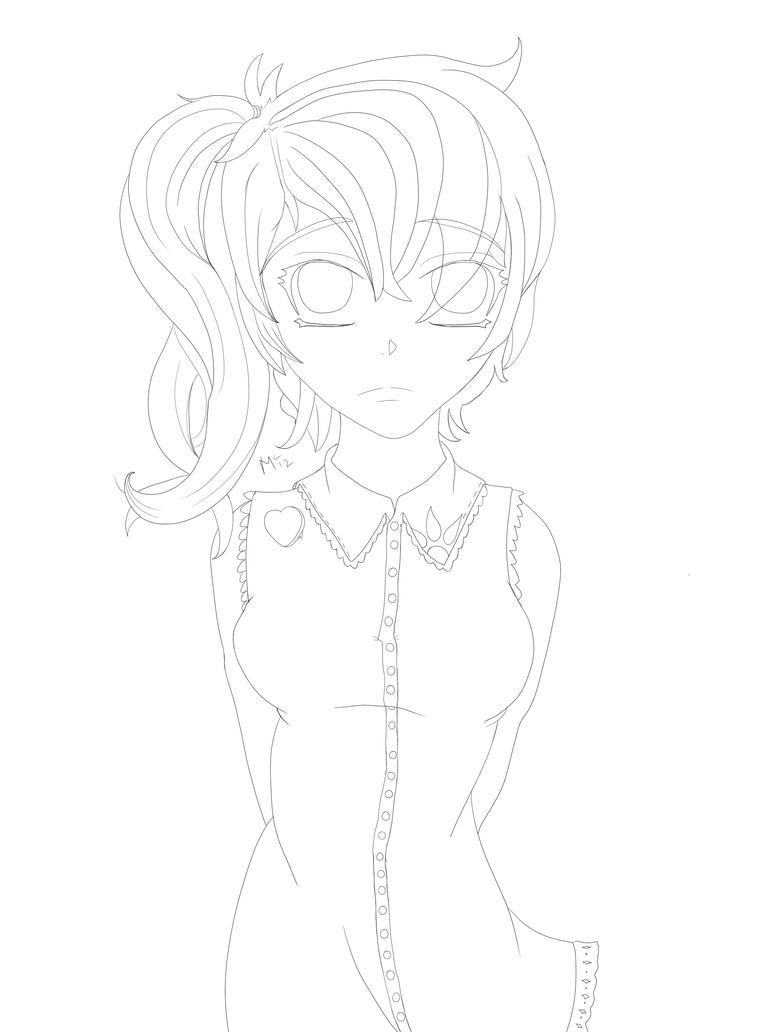 Line Art Generator : Shoujo girl line art by creator on deviantart