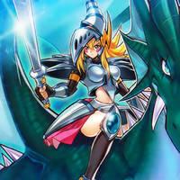 Dark Magician Girl, the Dragon Knight by omgitsjohannes