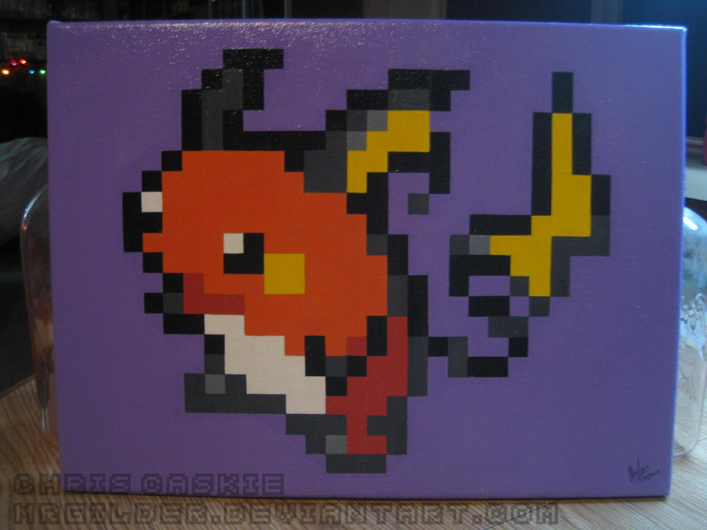 Pokemon Raichu Pixel Painting By Mrgilder On Deviantart