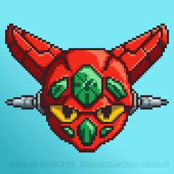 Getter Robo Pixel Head by mrgilder
