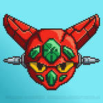 Getter Robo Pixel Head by mrgilder
