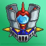 Mazinger Z Pixel Head by mrgilder