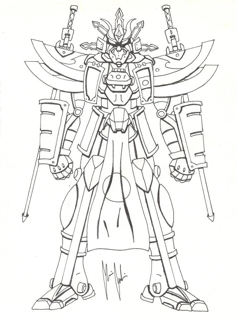 High Samurai Mecha by mrgilder