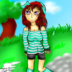 Anime Minecraft Girl