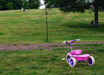 'My Pink Tricycle Awaits'