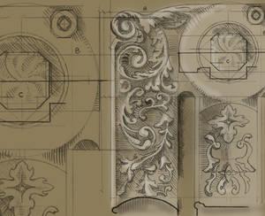 Cast Iron Radiator Sketch