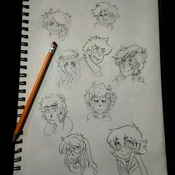 Character Doodles by arrissuu