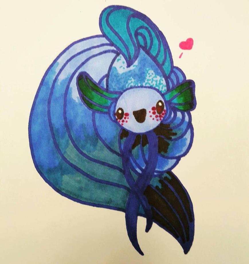 Little Fishy Friend by arrissuu