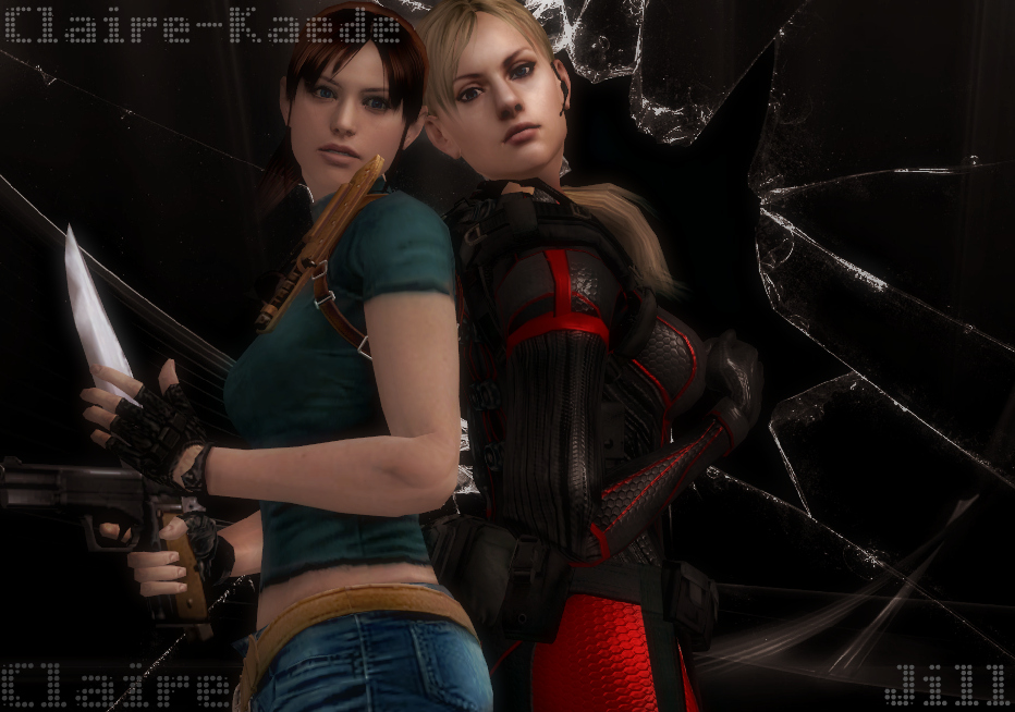 Claire Redfield And Jill Valentine By Claire-Kaede On
