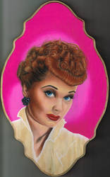 Lucille Ball (Wooden Base) by Kellyoshi