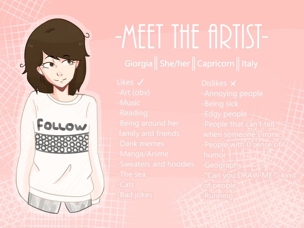 Meet the artist! by PandicornQueen