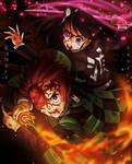 Tanjiro and Kanao Team Up