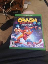 I got Crash Bandicoot 4 it's about time