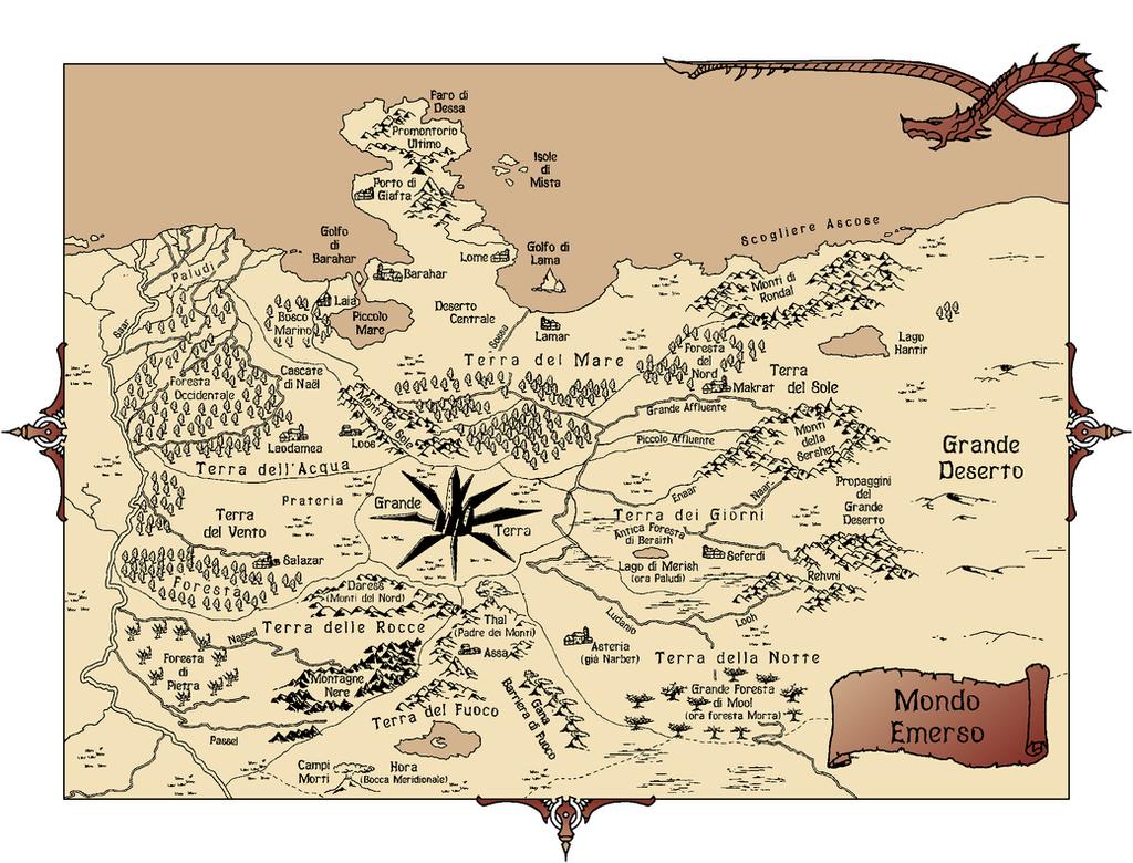Mappa cronache mondo emerso by ok billy on deviantart - Mappa del mondo contorno ks2 ...