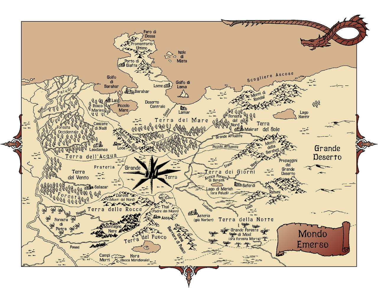 Cartina Mondo Emerso.Mappa Cronache Mondo Emerso By Ok Billy On Deviantart