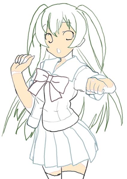 Midori Line Art Midori is of of the